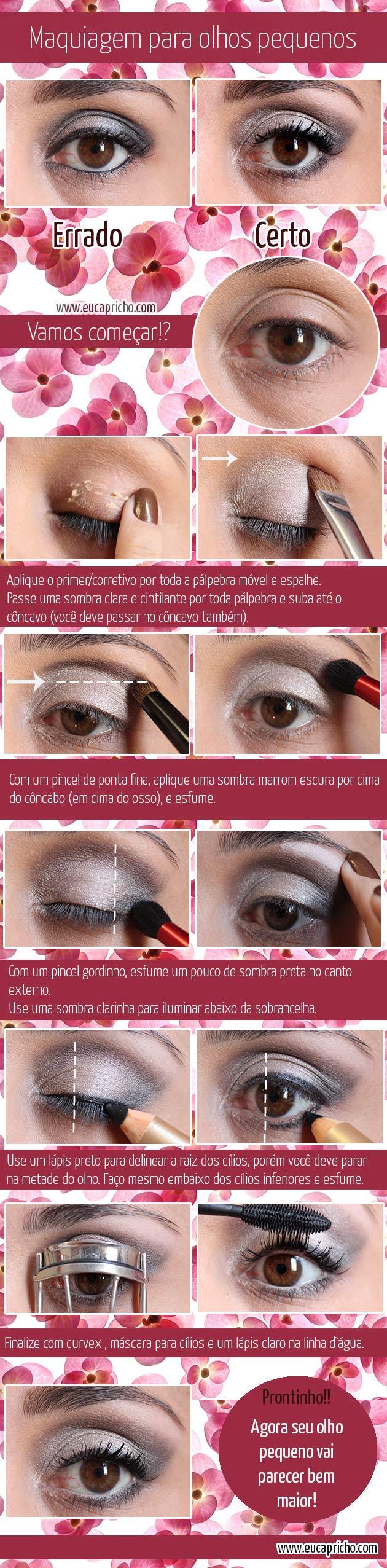maquiagemparaolhospequenos Maquiagem para olhos pequenos