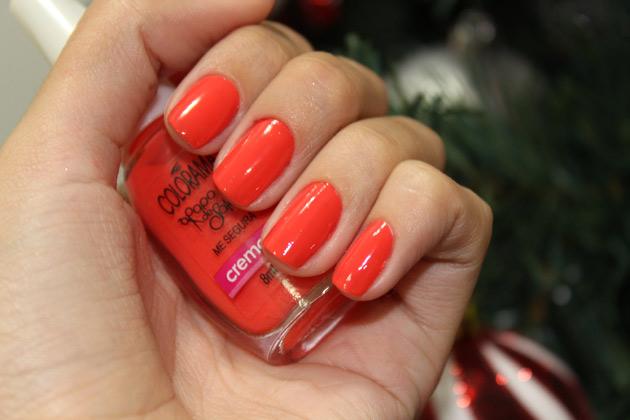 Me Segura - esmalte Colorama esmalte laranja esmalte neon esmalte coral