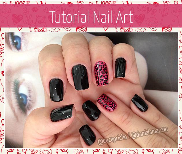 Tutorial Unha Decorada unha de oncinha - nail art - unha decorada de oncinha unha artística fácil