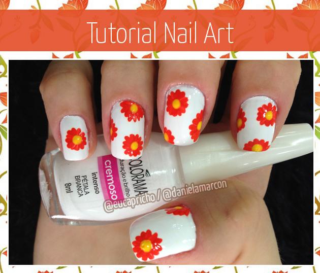 Unha Decorada Flor - decoração de unhas com flores aprenda a fazer em casa