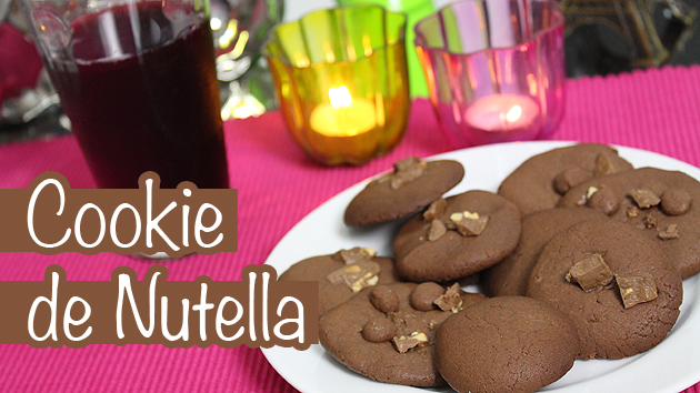 cookienutella Cookie de Nutella com 3 ingredientes