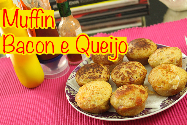 Muffin Salgado Bacon e Queijo