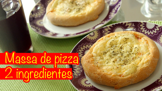 Massa de pizza com 2 ingredientes