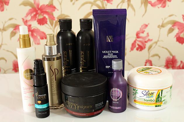 produtos para os cuidados com o cabelo loiro
