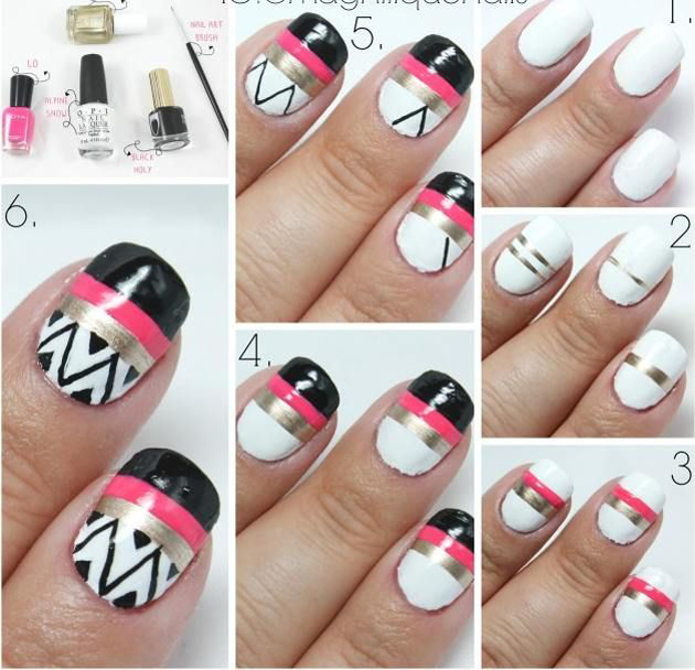 6 Tutoriais de Unha Decorada para você fazer em casa nail art unha artistica modelo unha decorada