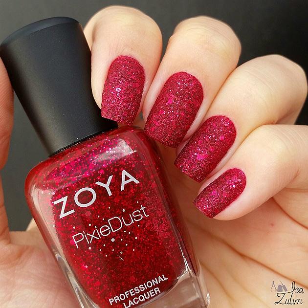Oswin da marca americana Zoya, esmalte texturizado, vermelho, esmalte com brilho, lindo