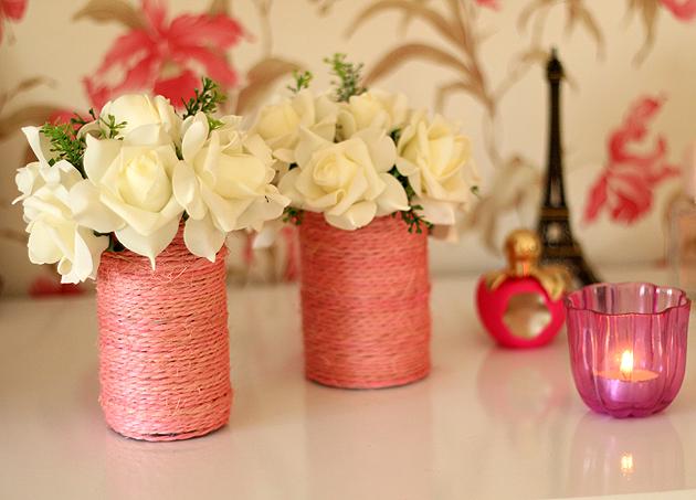 diy vasos coloridos para decoraçao, veja como fazer em casa vasos para flores ou porta pincel
