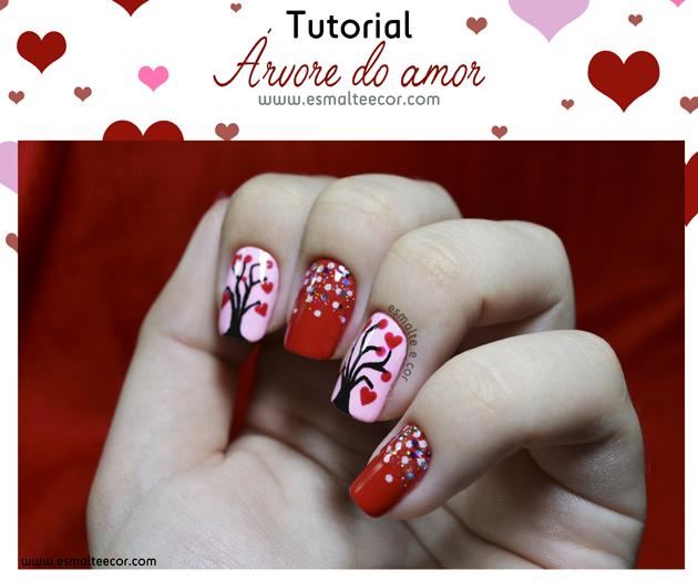 tutorial de nail art unha decorada pra o dia dos namorados