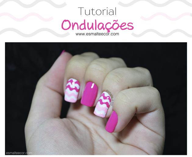 tutotial nail art com esmalte rosa