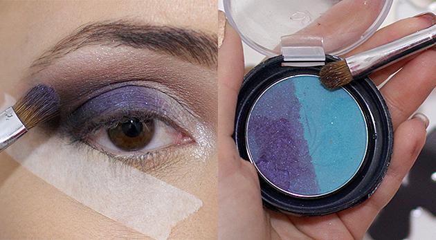 tutorial maquiagem azul para festa, um lindo tutorial facil de maquiagem para festa