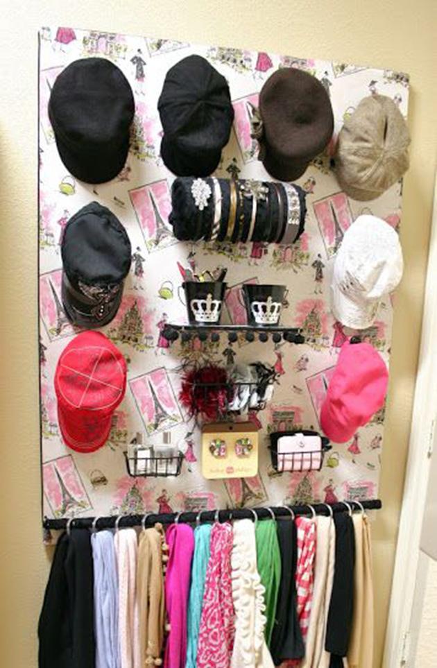 como organizar lenços e echarpes dicas de decoracao
