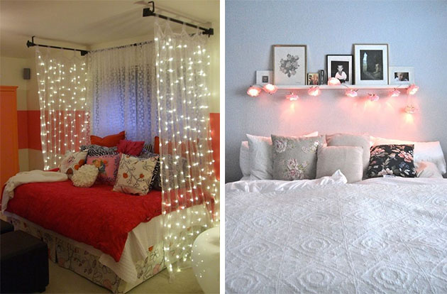 dicas para decorar o quarto, como usar papel de parede e cabeceiiras
