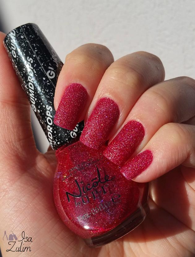 esmalte texturizado vermelho lindo