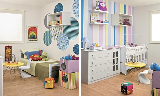 Quartinho de bebê - muitas dicas maravilhosas e inspiradoras para você decorar o quarto do bebê, saia do básico. Quartinho para menina e menino, lindos d+!