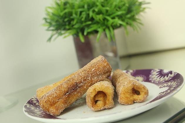 Rabanada Churros churros de pão de forma receita