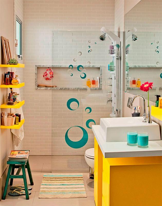 Ganhando espaço no banheiro decorar e organizar banheiros
