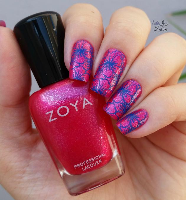 Zoya MAE e Sugar Bubbles 39 esmalte rosa unha decorada nail art