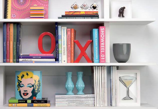 Organizando livros e revistas