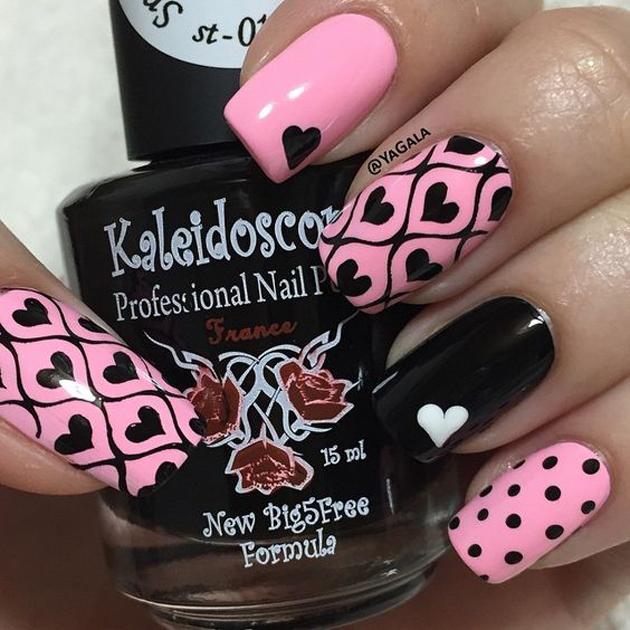 unhas decoradas Lindas rosa