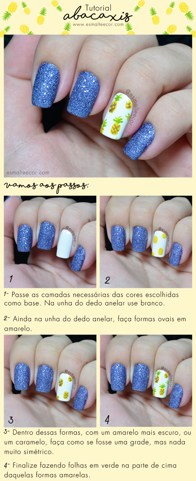tutorial nail art unha decorada