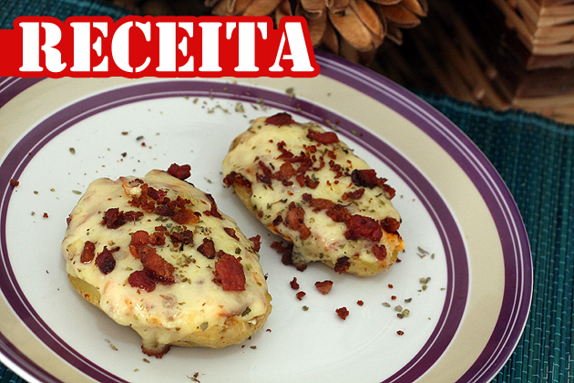 pizza de batata queijo e bacon
