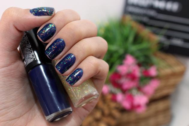 esmalte azul mozão + lambada flocado hits