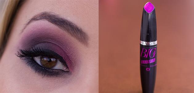 maquiagem vinho e preto
