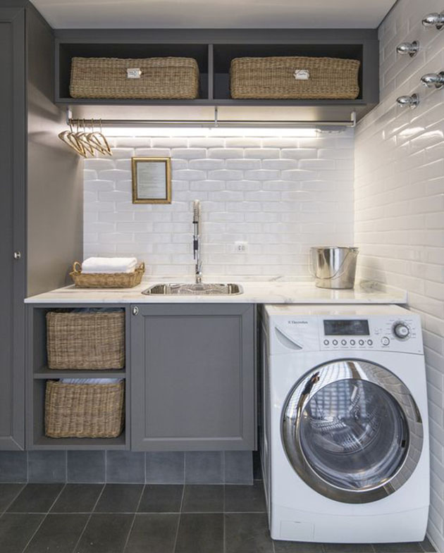 Como organizar área de serviço ou lavanderia