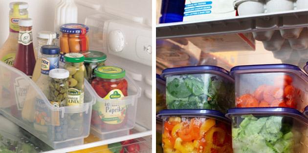 Como organizar a geladeira e armazenar os alimentos