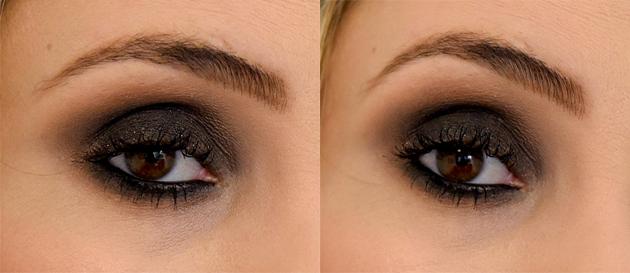 veja o passo a passo de um lindo olho preto esfumado e com brilho