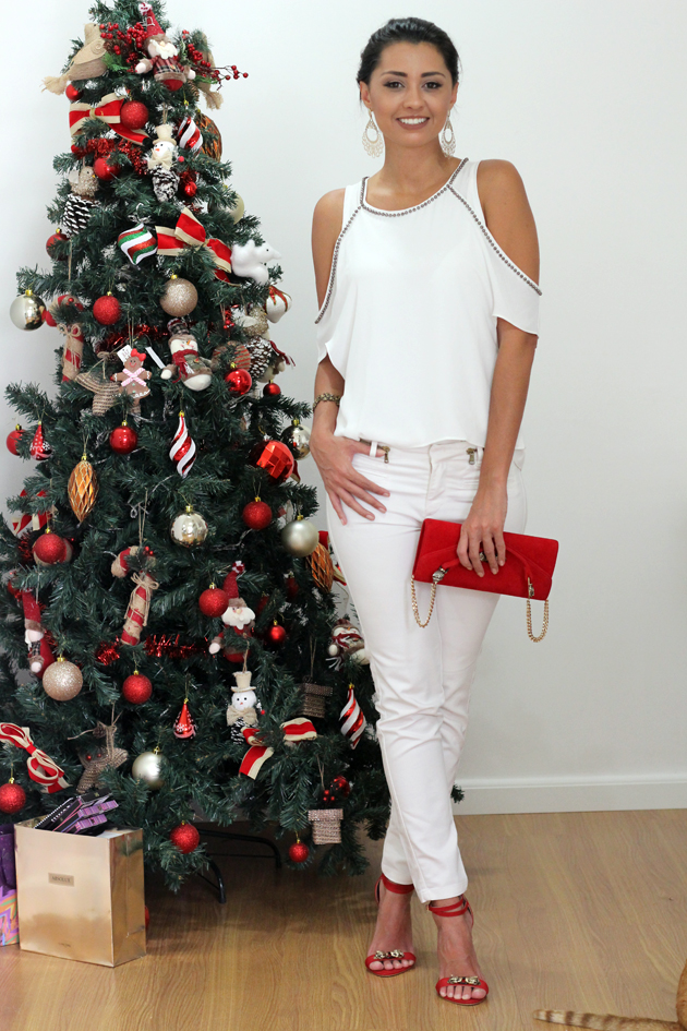 Look branco para o Natal