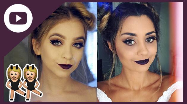 Maquiagem Outono 2017 cores neutras, delineador de gatinho e batom escuro
