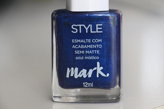 esmalte azul lindo com acabamento semi matte