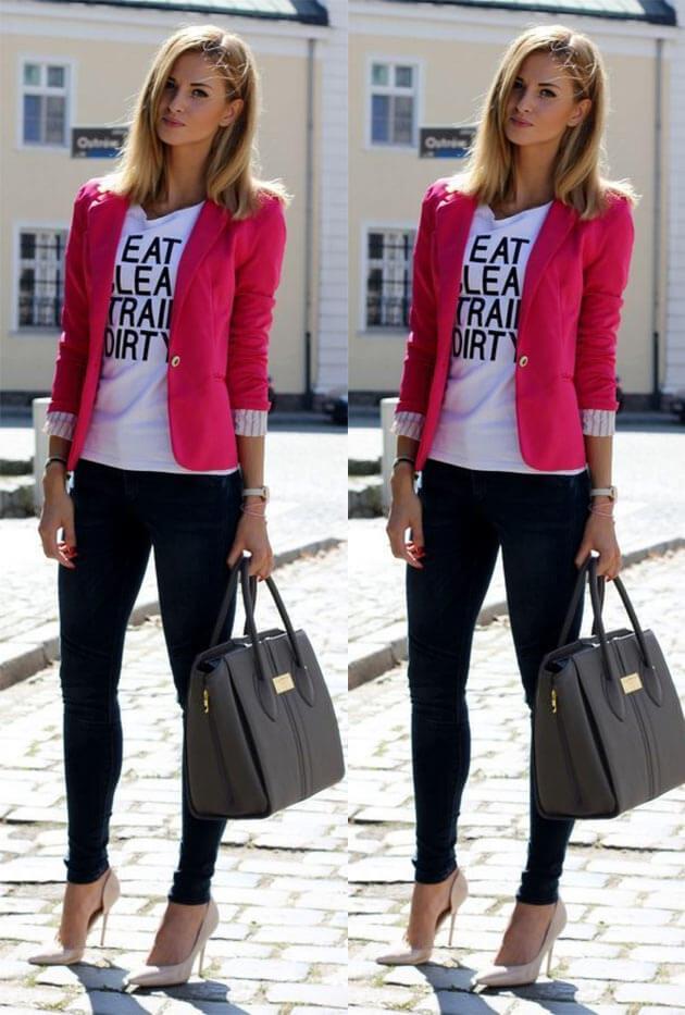 591a8598f0 ... Look com blazer - como usar blazer preto looks com blazer blazer zara  blazer rosa blazer