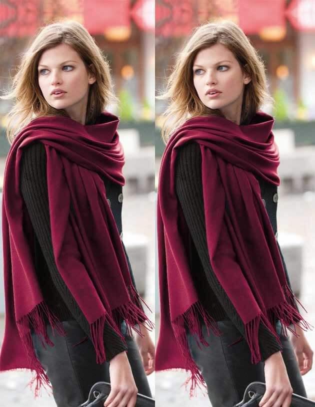 como usar echarpe echarpe com vestido look com echarpe echarpe de pelo tendencia 2017 moda 2017 echarpe croche