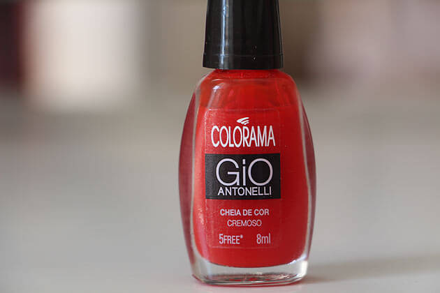 Esmalte Colorama - Cheia de Cor - Gio Antonelli esmalte vermelho
