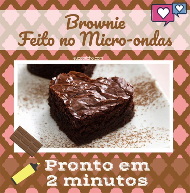 Brownie de chocolate receita fácil no micro-ondas