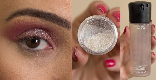 Maquiagem Marsala com Brilho