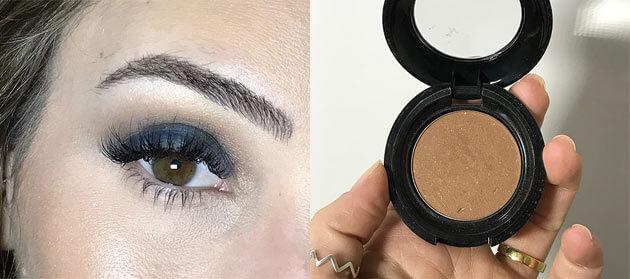 tutorial de maquiagem com sombra azul