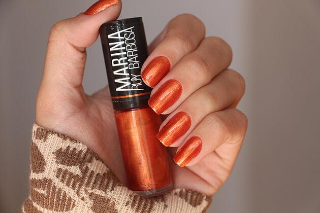 Esmalte Fashion Perolado Hits esmalte laranja