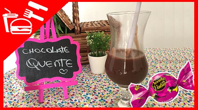 Como fazer chocolate quente de Sonho de Valsa