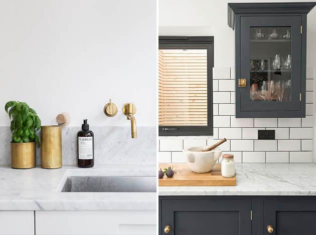 Mármore na decoração - dicas e inspirações para decorar a sua casa com o mármore, decoração para o quarto, decoração para sala e mais. Confira.