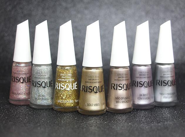 Coleção Risqué Efeitos - Metalizados e GlittersColeção Risqué Efeitos - Metalizados e Glitters