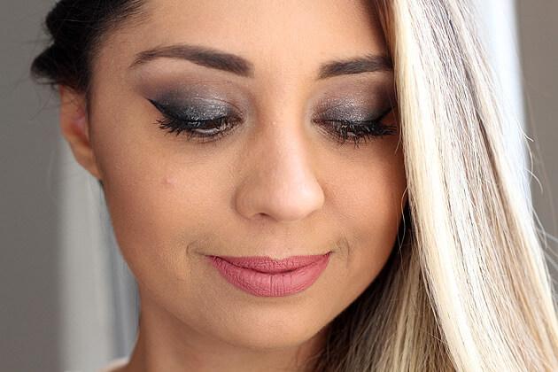 Olho preto esfumado fácil maquiagem completa