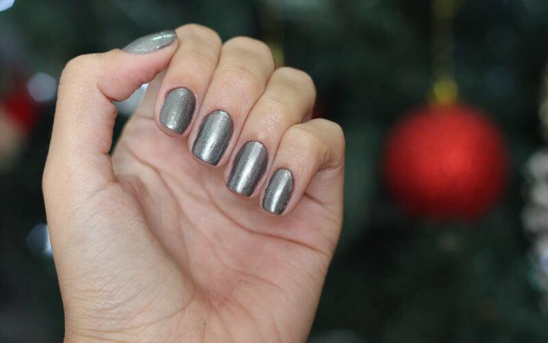 Esmalte Prata com glitter