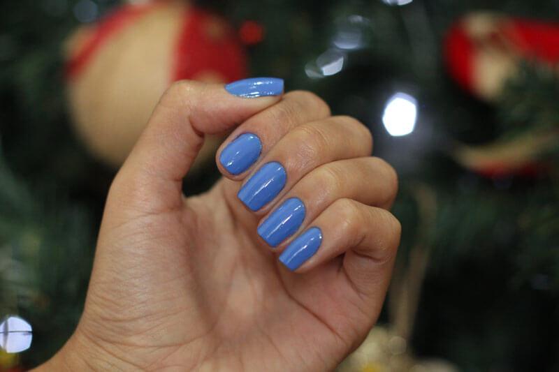 Esmalte Azul Claro Mão Boba Mohda