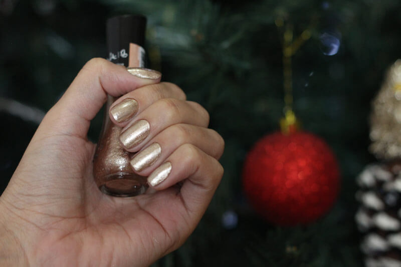 Esmalte Dourado com Glitter esmalte para o natal esmalte com brilho esmalte para festa