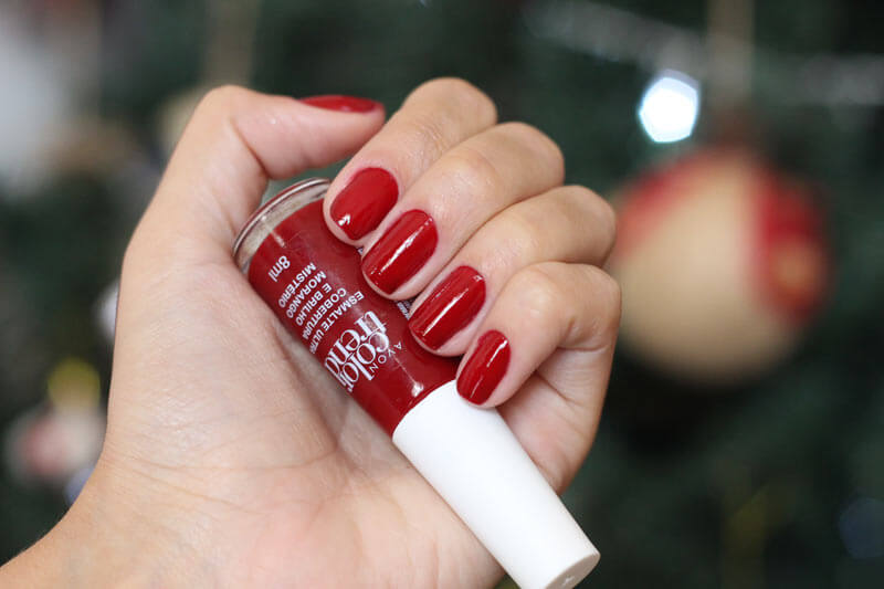 Esmalte para Arrasar no Natal esmalte vermelho avon