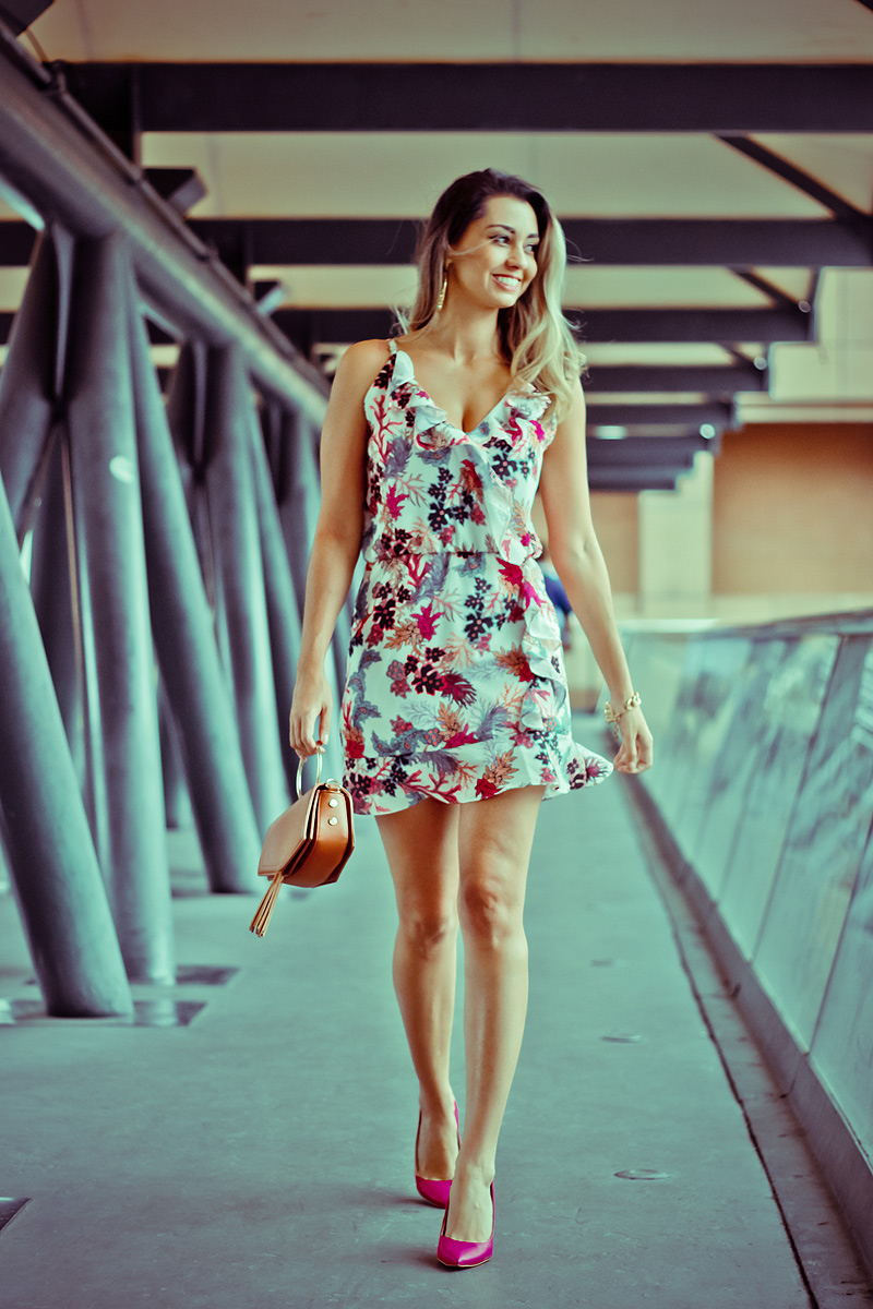 Look do Dia - Vestido estampado