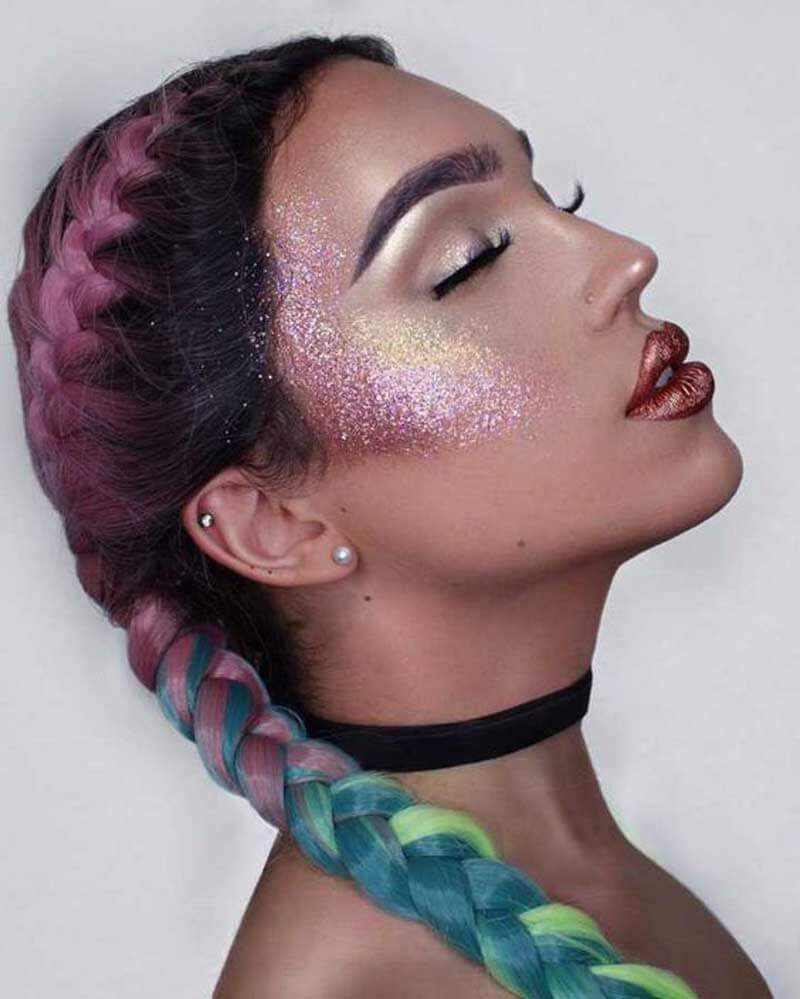 Maquiagem com glitter para o carnaval veja muitas inspirações de make com glitter, aprenda como colocar o glitter no rosto